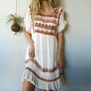 Free People boho embroidered flowy comfy dress